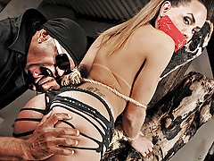 Helpless bound submissive shemale sex