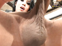 Exotical Nadiya jacking off in the kitchen