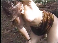 Tranny doll rendezvous in woods for sex