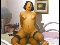 Sexy tgirl in a striptease and hardcore scene