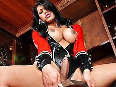 Cassia Carvalho Masturbates In Hot Latex