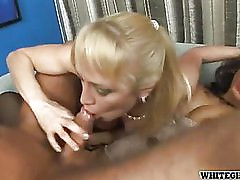 tranny fucks a guy while other one sucks his cock