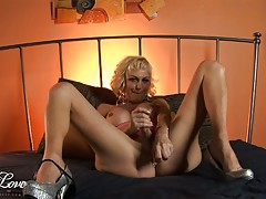Seductive tgirl Olivia Love toying and masturbating