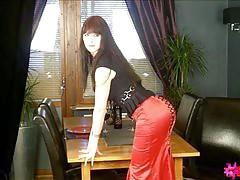 Hannah Sweden in a tight skirt