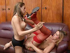 Patricia&Yasmin attractive trannies on video